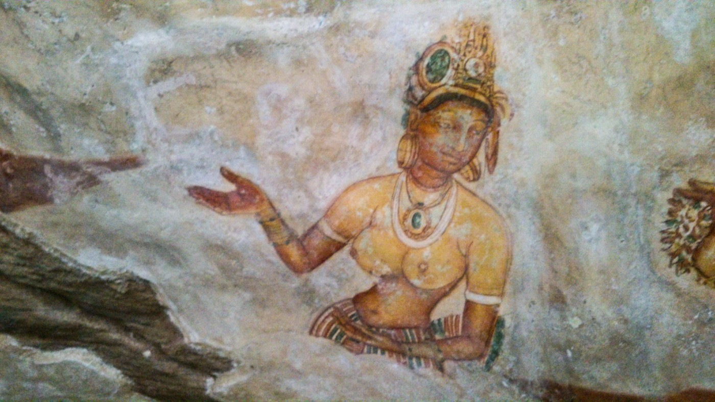 Sigiriya-Wall-Paintings-1