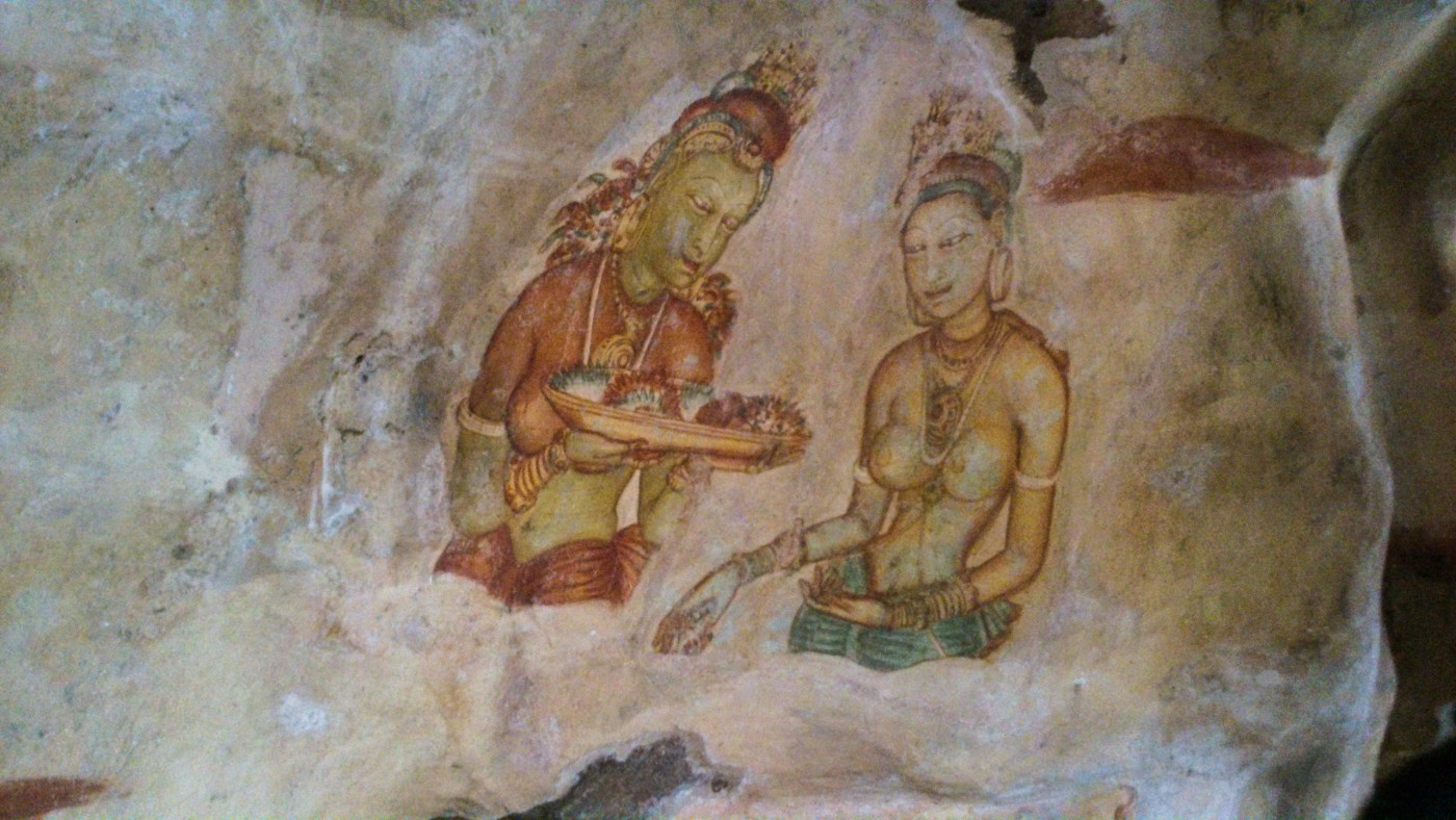 Sigiriya-Wall-Paintings-11