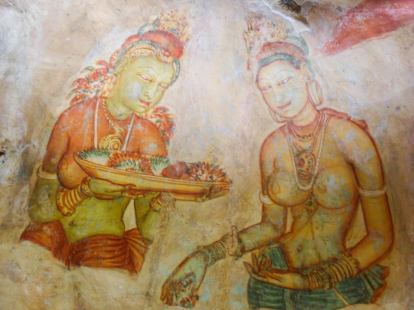 Sigiriya-Wall-Paintings-3