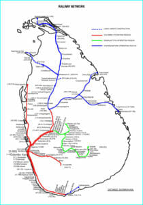 Sri Lanka Railway Network - Railway Transportation System of Sri Lanka