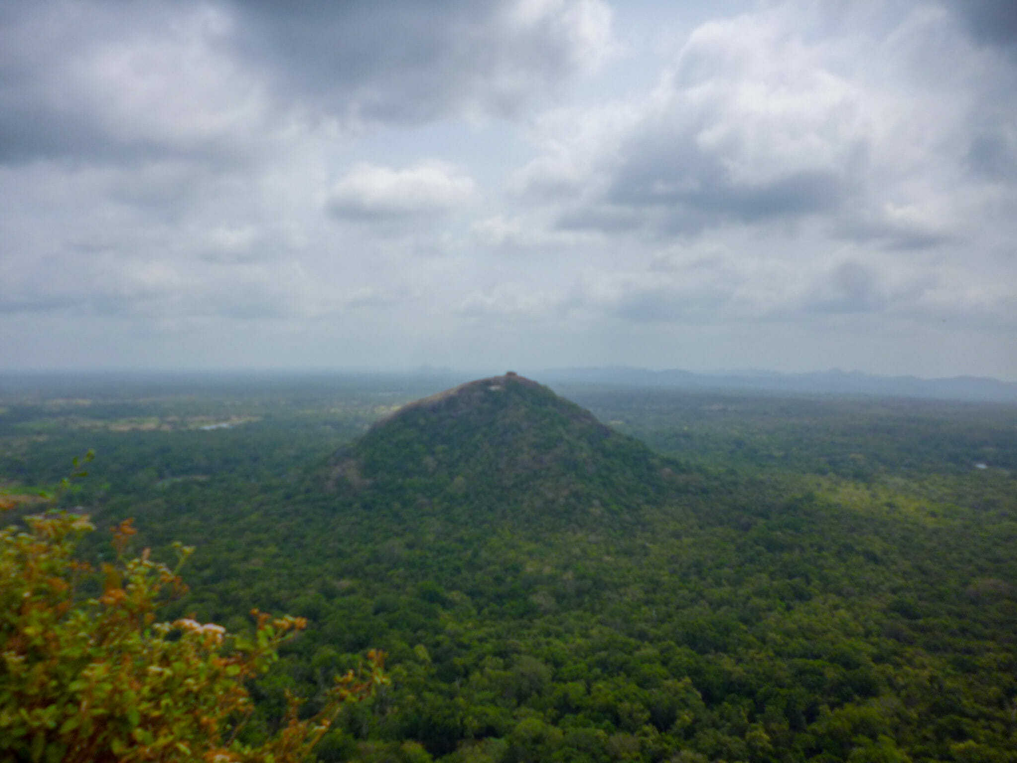 Pidurangala Rock from Sigiriya